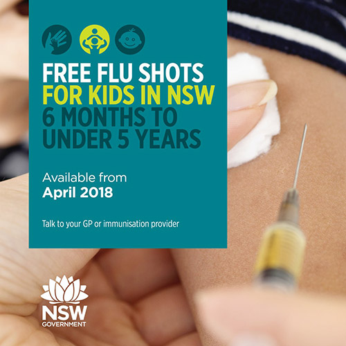 Free flu shots for children